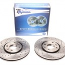 Discos Ta-Technix Perfurados + Ranhurados + Ventilados Citroen Xantia X1 288mm