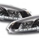 Faróis Daylight LED Daytime Running Luz VW Golf 6 cromados