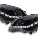 Farois LED Daylight Vw Polo 9N3 pretos