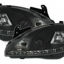 Farois LED pretos Opel Corsa C