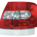Farolins Audi A4 B5 Sedan Red / Clear LED