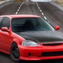 Lip Frontal Type R em ABS Honda Civic EK (1999-2001)