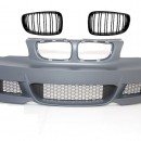 Pára-choques frontal BMW 1'er E81 / E82 E87 / E88 (09-up) com grelhas M-tech