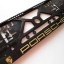 Placa de matricula + parafusos Porsche