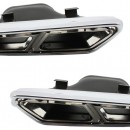 Ponteiras de Escape Mercedes Benz Classe S W222 C217, E-Class W212 S212 Facelift, CLS W218, Classe SL R231 E65 S65 SL65 Design AMG