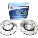 Discos frontais Ta-Technix Ranhurados + Perfurados + Ventilados Volvo S80 305mm