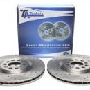 Discos Ta-technix Perfurados + Ranhurados + Ventilados Seat Ibiza 6L 312mm