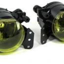 Farois de Nevoeiro BMW E90 / E91 M pretos/amarelos