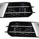 Grelhas Audi A1 RS1 pretas/cromadas