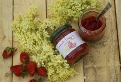 Composta di Fragole con fiori di Sambuco