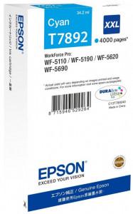 Epson T7892 / C13T789240, Cartus original, Cyan, 4000 pagini