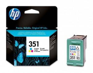 HP 351 / CB337EE, Cartus original, Color, 170 pagini