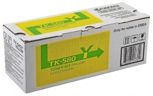 Kyocera TK-580Y, Cartus toner original, Yellow, 2800 pagini