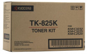 Kyocera TK-825K, Cartus toner original, Negru, 15000 pagini