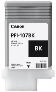 Canon PFI-107BK, Cartus original, Negru, 130ml