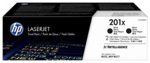 HP 201x / CF400XD, Pachet Cartuse toner originale, Negru, 2x 2800 pagini