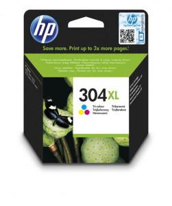 HP 304XL / N9K07AE, Cartus original, Color, 300 pagini