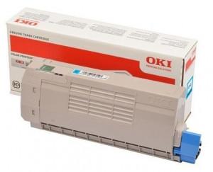 Oki C532C / 46490607, Cartus toner original, Cyan, 6000 pagini