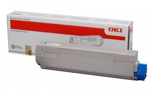 Oki C831C / 44844507, Cartus toner original, Cyan, 10000 pagini