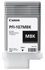 Canon PFI-107MBK, Cartus original, Negru Mat, 130ml