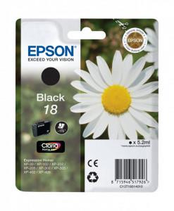 Epson T1801 / C13T18014010, Cartus original, Negru, 175 pagini