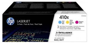 HP 410x / CF252XM, Pachet Cartuse toner originale, Color, 3x 5000 pagini