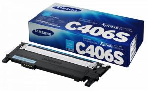 Samsung CLT-C406S, Cartus toner original, Cyan, 1000 pagini