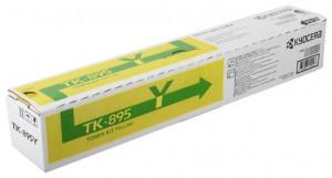 Kyocera TK-895Y, Cartus toner original, Yellow, 6000 pagini