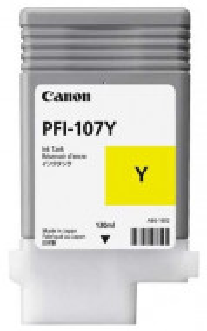 Canon PFI-107Y, Cartus original, Yellow, 130ml