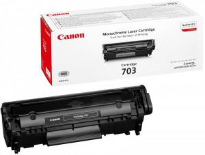 Canon CRG-703, Cartus toner original, Negru, 2000 pagini
