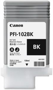 Canon PFI-102BK, Cartus original, Negru, 2200 pagini