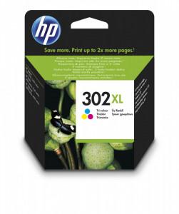 HP 302XL / F6U67AE, Cartus original, Color, 330 pagini