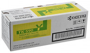 Kyocera TK-590Y, Cartus toner original, Yellow, 5000 pagini