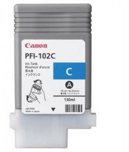 Canon PFI-102C, Cartus original, Cyan, 1500 pagini
