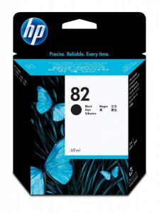 HP 82BK / CH565A, Cartus original, Negru, 69ml