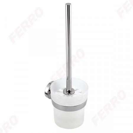 Portperie WC Metalia 11, crom/sticla mata