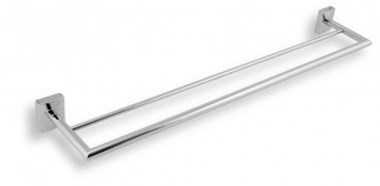Portprosop bara dublu 60 cm Metalia 12, crom