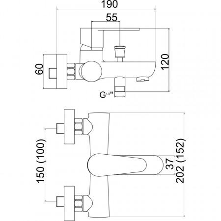 Set FERRO 3in1: baterie cada-dus + baterie lavoar + set de dus