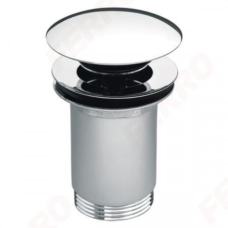 """Ventil lavoar Ferro Rotondo, click-clack, cu preaplin, 1 1/4"""", alama, Crom"""
