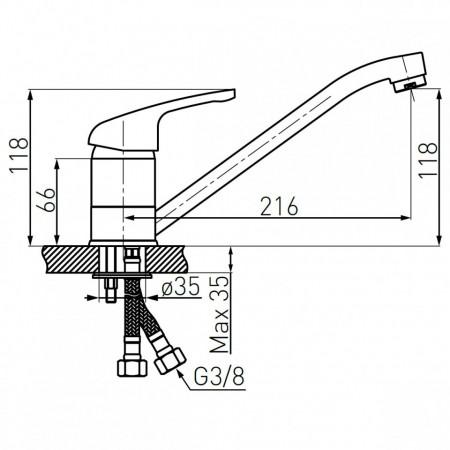Baterie stativa spalator Freya, grafit - BFR4B