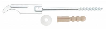 Consola filetata cu diblu pentru radiatoare aluminiu, zincata