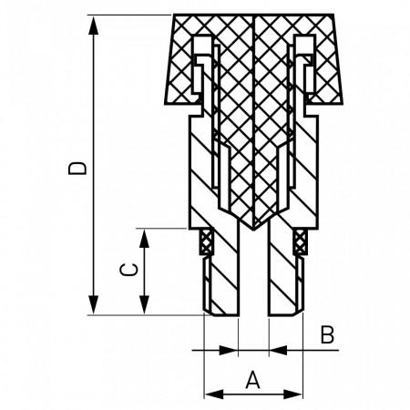 """Aerisitor manual 1/4 """", plastic"""