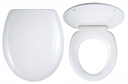 Capac WC universal din plastic, alb