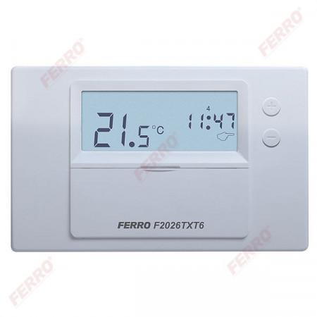Termostat electronic de ambianta programabil F2026TX fara fir