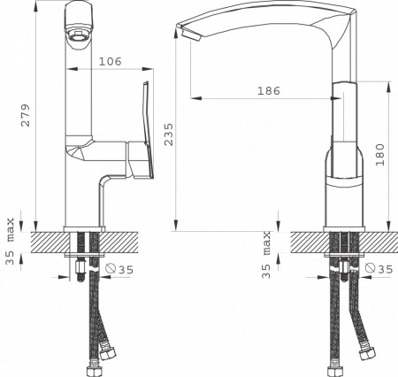 Baterie stativa spalator Florence VerdeLine, crom - BFL4VL