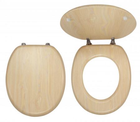 Capac WC din lemn de meteacan, natur
