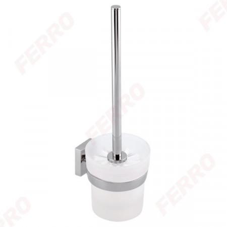 Portperie WC Metalia 12, crom/sticla mata