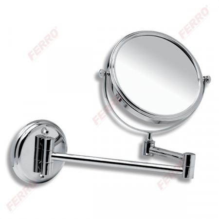 Oglinda cosmetica reglabila Mephisto, crom