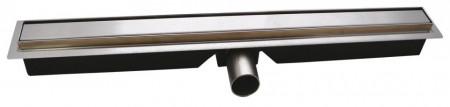 Rigola dus inox Slim Pro L= 800 mm, cu sifon incorporat DN40