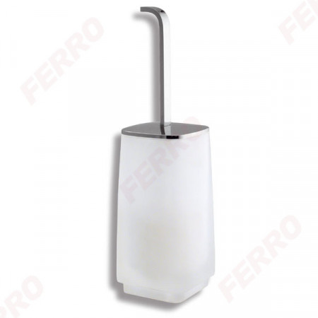 Portperie stativa WC Metalia 4, sticla mata